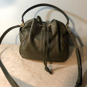 New Banana Republic Italian Leather Drawstring Bag
